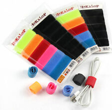 Hook and Loop Cable Ties -  6 MULTI-COLOUR Cable Ties - BUY 3 save 20% !!!