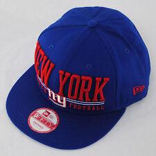 New Era 9fifty NY New York Giants Lateral Royal Blue Red Snapback Hat Cap