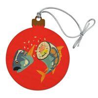 Sushi Tuna Fish Yellowtail Roll Wood Christmas Tree Holiday Ornament