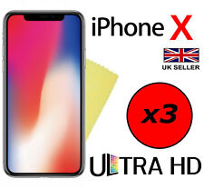3x ULTRA HD CRYSTAL CLEAR SCREEN PROTECTOR COVER GUARD FILMS FOR APPLE IPHONE X