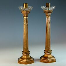 Pair of Bronze French Candlesticks Candle holder Set