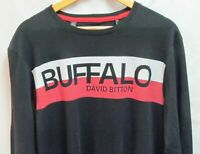 BUFFALO DAVID BITTON Men  Long Sleeve Shirt Nikoami BPM135458 Large Black NWT
