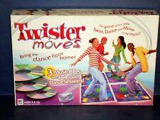 TWISTER MOVES Game~3-CDs w/ARRON CARTER DANCE ReMIX~Milton Bradley~1-4 PLAYERS