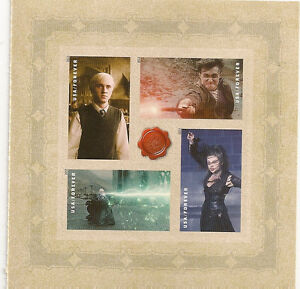 US 4844a Harry Potter Villains forever pane 4 stamps MNH 2013
