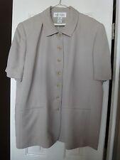 Short Sleeve Rena Rowan Pant Suit, Polyester Acetate Lite Taupe Brown 20 22 W