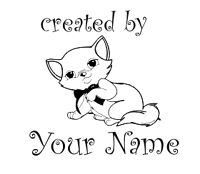 PERSONALIZED  CUSTOM MADE  RUBBER STAMPS UNMOUNTED  C20