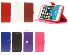 NEW PU Leather Folio Wallet Flip Cover Case for APPLE I PHONE 5,5S,SE MODEL