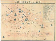 VENEZIA LIDO CARTINA UFFICIO COMUNALE TURISMO ANNI '40