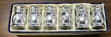 Vintage Sterling Silver Macey's Salt and Pepper Shakers Set of 6
