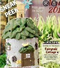 "SCENTSY ""FAIRYTALE COTTAGE "" Ceramic FULL SIZE Tree House Wax Warmer~ New ! ZZ"