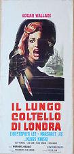 LOCANDINA, IL LUNGO COLTELLO DI LONDRA Circus of Fear, WALLACE, HORROR POSTER B