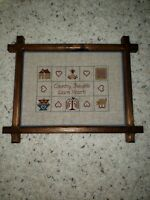 """VTG. Arts and Crafts/Mission Picture Frame Fits 12"""" x 9"""" Completed Cross-stitch"""