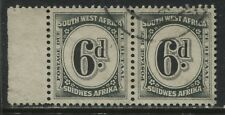 South West Africa 1931 6d Postage pair used