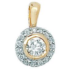 Runde Anhänger aus Gelbgold mit Diamanten