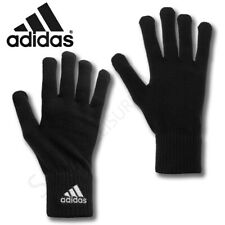 Mens ADIDAS Gloves Knitted Running Sports Gym Winter Soft Warm Adults Black NEW