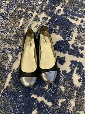 Seychelles Black Laether Flat Shoes