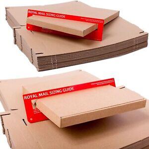 ROYAL MAIL BROWN LARGE LETTER PIP CARDBOARD POSTAL MAILING BOX C6 C5 C4 DL
