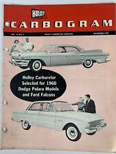 Nov 1959 Vintage Brochure AD HOLLEY CARBURETOR for Dodge Polara & Ford falcon