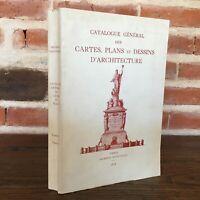 Catalogue General Schede Piani Disegni Architettura T.4 S.N Paesi Alieni 1974