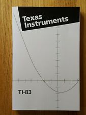 Texas Instruments Ti-83 Instruction Manual Guide Book