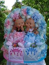 """XL Windeltorte Zwillinge""""Little Prince u.Princess mit zwei Babypüppchen""""Geburt"""