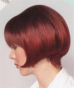 Short Straight Chin-length bob style wig w/ bangs - Jessica