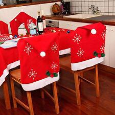 4 coprisedia natalizio cappello babbo natale 75x50 cm copri spalliera schienale