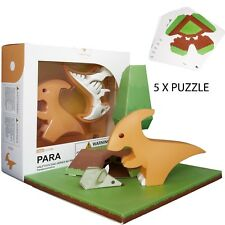 Halftoys Adorable Magnetic Dinosaur 3d Puzzle Toy For Kids & Family- Para
