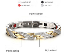 Stainless Steel Female Magnetic Bracelet Pain Relief Anti Fatigue Power Enhancer