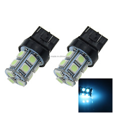 2x Ice Blue AUTO 7443 Brake Lamp Indicator Light 13 5050 SMD LED 7440 W3X16D G00
