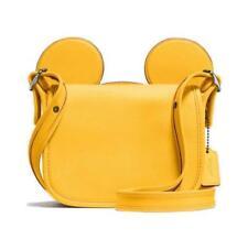 Coach Disney X Mickey Mouse Ears Yellow Leather Patricia Handbag NWT $395