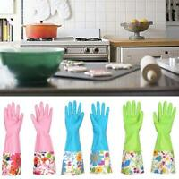 PVC Plastic Latex Cleaning Household Laundry Dish washing In The Kitchen Gloves