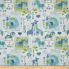 PATCHWORK PALS ANIMAL Fabric Fat Quarter Cotton Craft Quilting - KIDS Nursery