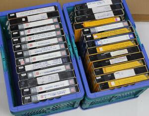 15x VHS Leerkassetten bespielt E-240 E-195 E-180 verschiedene Marken