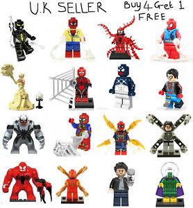 Spider Man Spider-Man Minifigure Lego & Custom Spiderman Venom Toxin Mini Figure