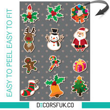 Christmas Stickers - Christmas windows stickers - Santa/Reindeer/Car/Fridge/Kids