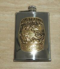 New listing Stainless Steel Flask Islay Mist Scotch Whisky Rare Gold Aussie Badge Kangaroo