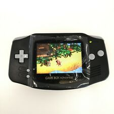 Black Game Boy Advance GBA Console with iPS Backlight Backlit LCD MOD Console