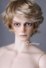 "8-9"" 1/3 BJD Hair IP SD doll wig Super Dollfie handsome short cut SD17 M-mohair"