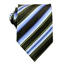 Blue Black Stripe 100%Silk Jacquard Classic Woven Man's Tie Necktie Wedding BP13