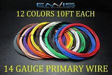 14 GAUGE WIRE ENNIS ELECTRONICS 10 FT EA 12 COLORS CABLE AWG COPPER CLAD
