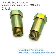 2* CEL Fix ZINC COATED Check Engine Light Eliminator Adapter Oxygen O2 Sensor 02