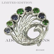 Peacock Slide Charm 211141l Retired Lmtd Authentic Lori Bonn Silver Proud as a