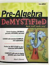 Pre-algebra Demystified, Second Edition by Allan Bluman (English) Paperback Book