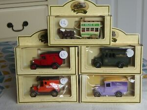 5 Different Lledo / Days Gone Diecast Promotional Vans / Bus   - New/Boxed