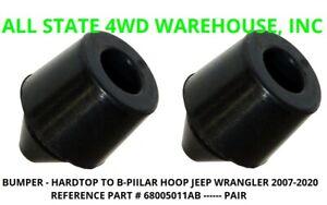 Jeep JK JL Wrangler Hard Top Rubber Rear B-Pillar Hoop Bumper's Pair 68005011AB