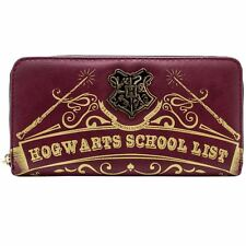Official Harry Potter Hogwarts School List Red Coin & Card Clutch Purse *SECOND*