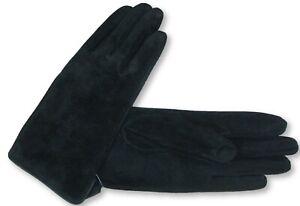 Cedric Sz S Genuine Suede Leather Everyday Black Gloves