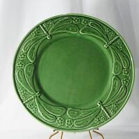 Bordallo Pinheiro Green Dragonfly High Relief 12 in Platter Made in Portugal
