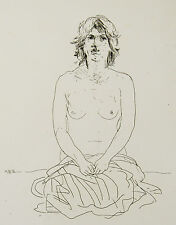 Jacob HILLENIUS(1934-1999)Engraving gravure NU erotique nacht nude Holland naakt